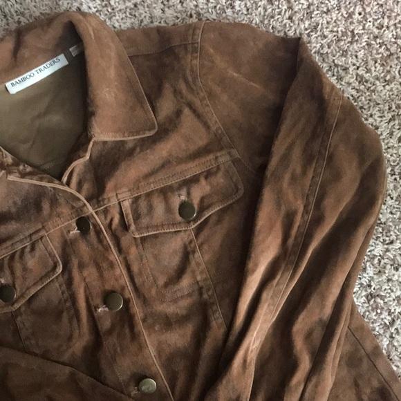 Vintage Jackets & Blazers - Brown suede shirt jacket
